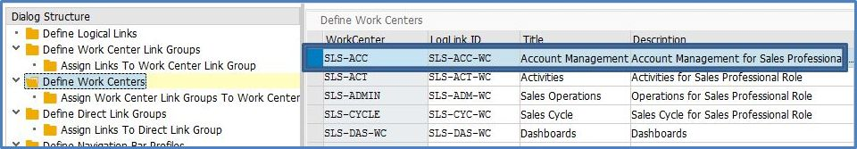 Customizing CRM Work Center