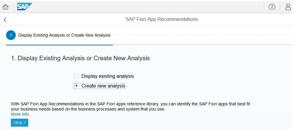 SAP Fiori App Referenzbibliothek: Neue Analyse (Quelle SAP® S/4 Hana)