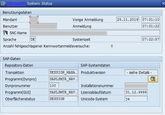 S/4HANA: Status Details (Quelle SAP® ERP)