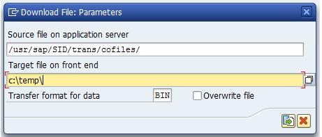 CG3x-Transaktionen für den down-upload von Datenfiles