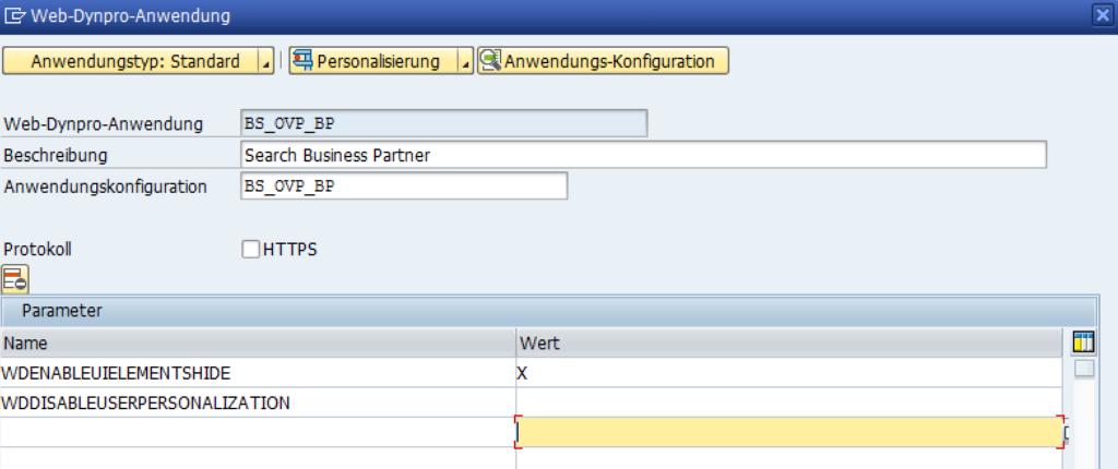 PFCG Personalisierung Web-Dynpro