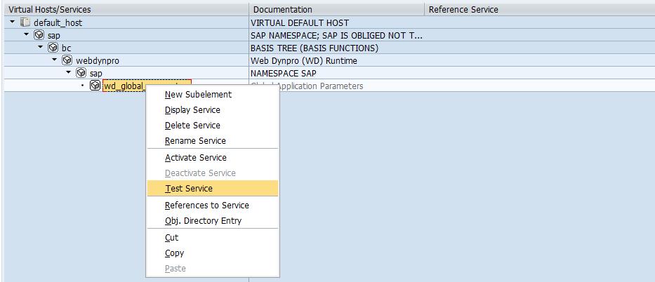 SICF Test Web-Service